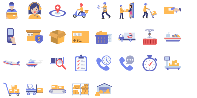 Logistics clipart collection