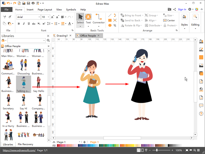 Customize office people clipart