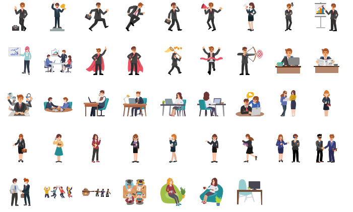 Office People Clipart Collection