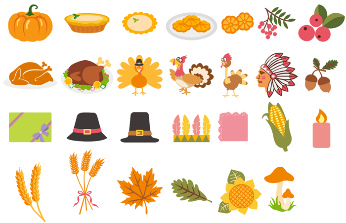 Thanksgiving Day Clipart Collection