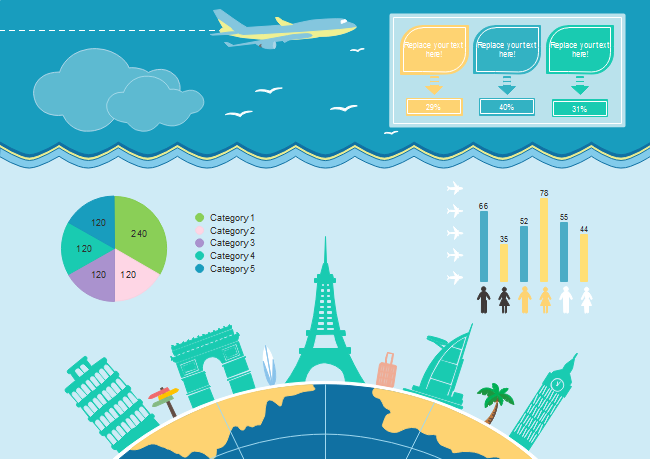 Tourism Clipart in Infographics