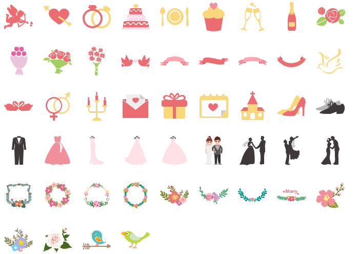 Wedding Day Clipart Collection