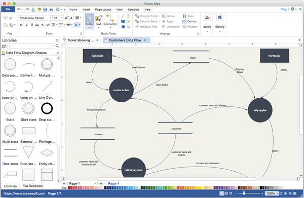 Data flow diagram alternative to microsoft visio for mac data flow diagram visio alternative ccuart Images
