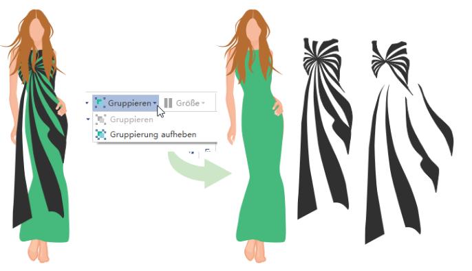 Kleidung-Outline vorzeichnen