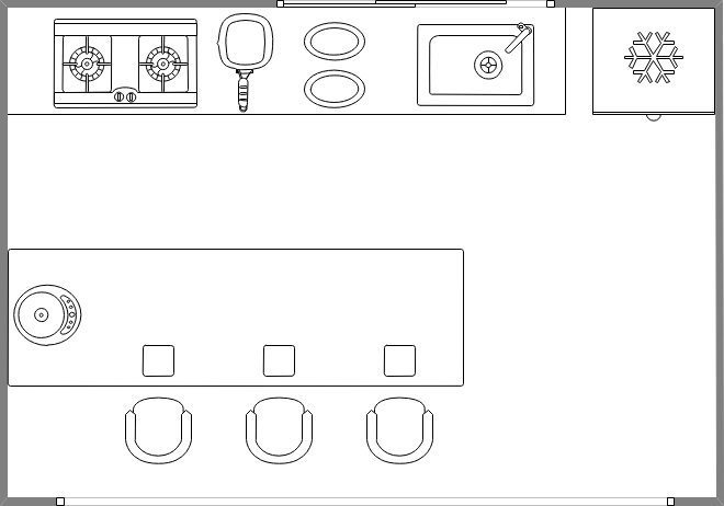 Beispiele des Küchenplans