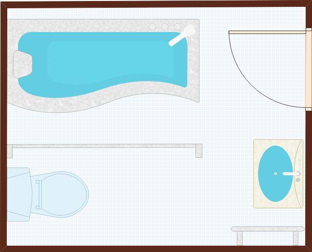 Beispiele der Plan des Badezimmers