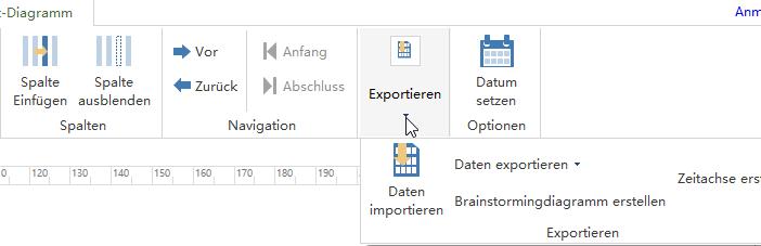 Mindmap oder Zeitachse aus Gantt-Diagrammen