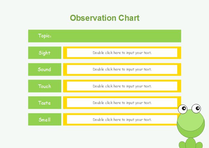 Gitter und Matrix Grafik Organizer Vorlage - Beobachtungstabelle