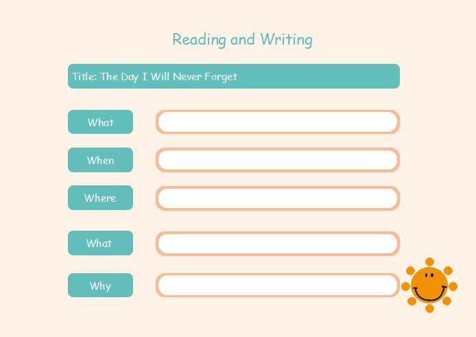 Gitter und Matrix Graphic Organizer Vorlage - Lesen und Schreiben