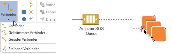 AWS-Symbole verbinden
