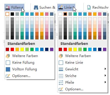 Farbe füllen