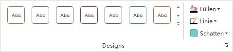 Shapes formatieren