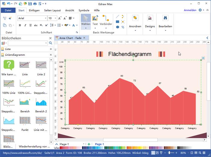 Flächendiagramm  Software