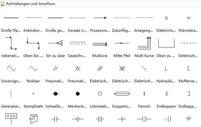PFD-Symbole - Rohrleitungen