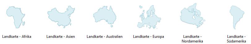 Geographische Karte Software