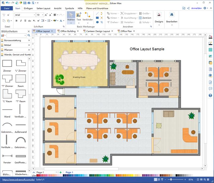 Büroplanung Software Erstellen Sie Büroplanung Aus Beispielen Und