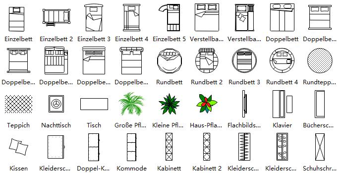 Grundriss zeichnen m bel verschiedene for Couch zeichnen