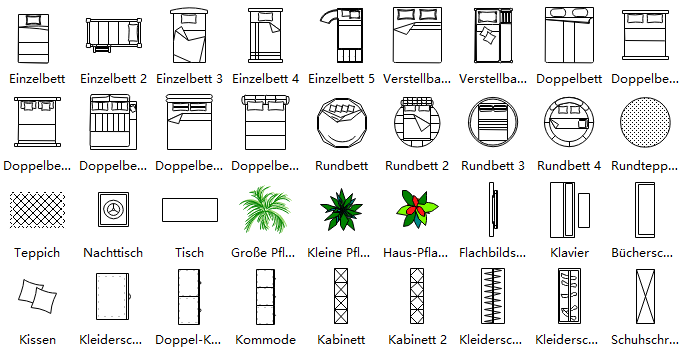 Grundriss Symbols 3