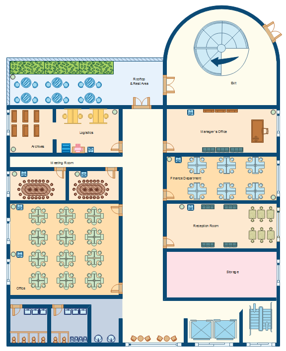Bürolayout - 14 seats class room