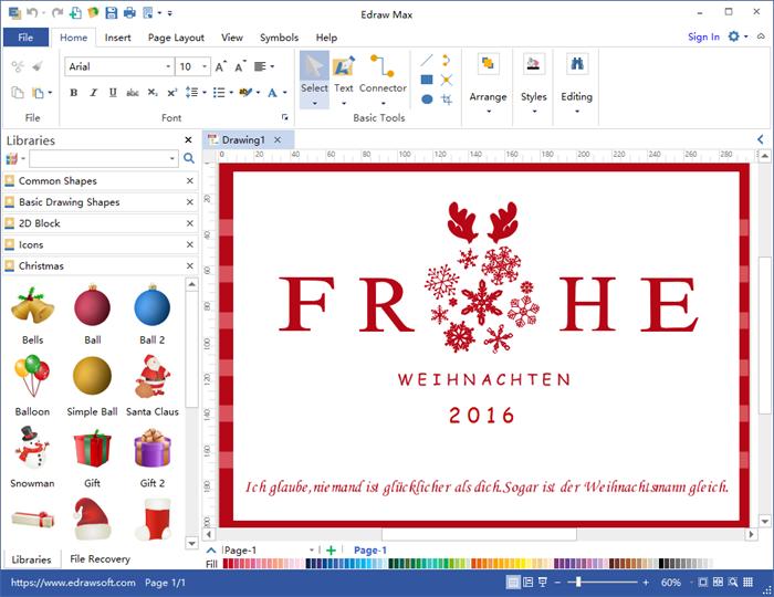 Weihnachtskarte selbst erstellen programm f r gestaltung - Weihnachtskarten drucken gratis ...