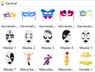 Karneval Symbole