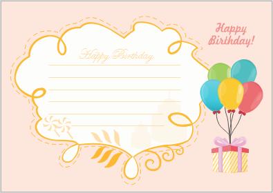 Geburtstagskarte Beispiel