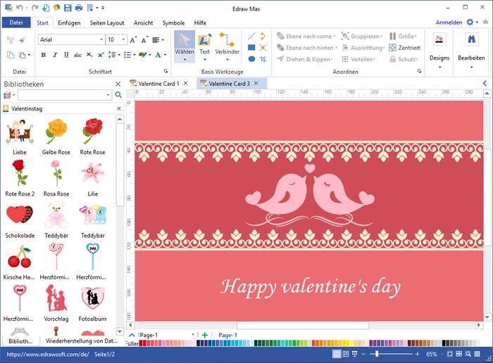 Valentinskarte Software