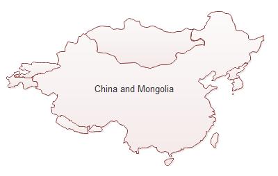 China und der Mongolei