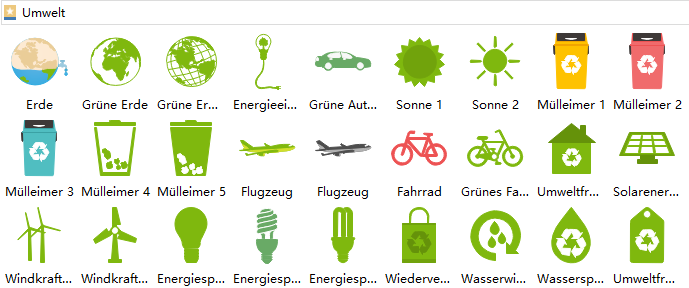 Flyergestaltung Symbole