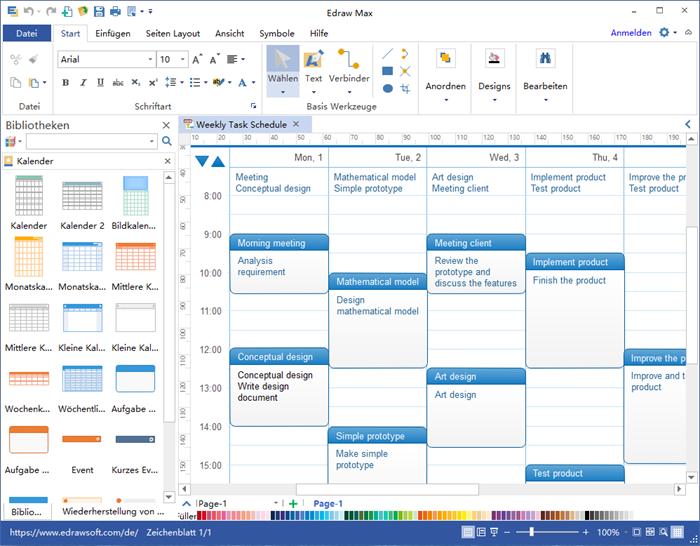 Kalender Software mit Zeitplan