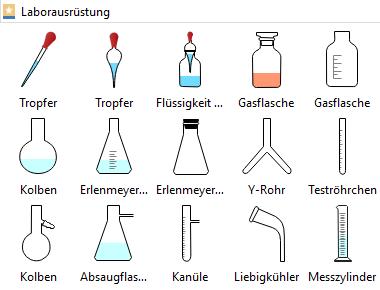 Chemische Laborgeräte Formen