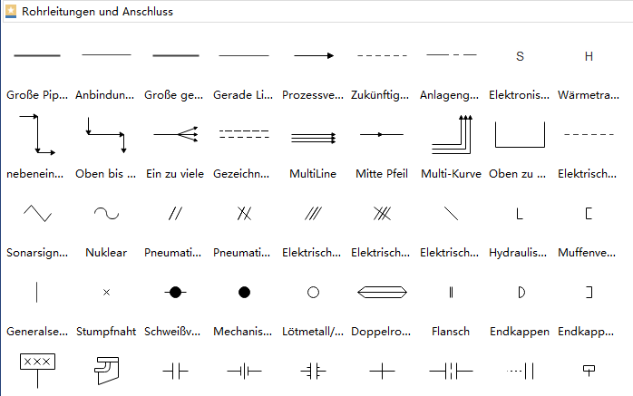 PID Symbole - Rohrleitungen