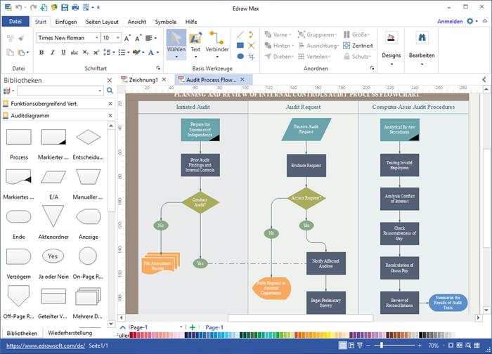 Auditdiagramm Software
