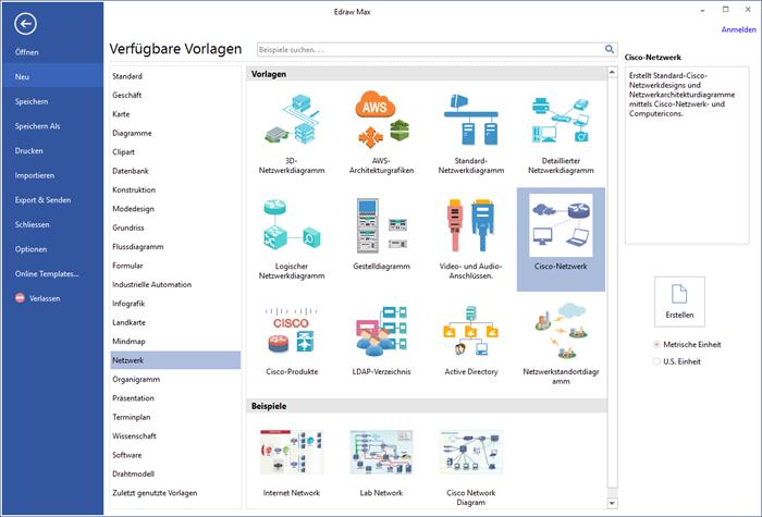Edraw Netzwerk Software
