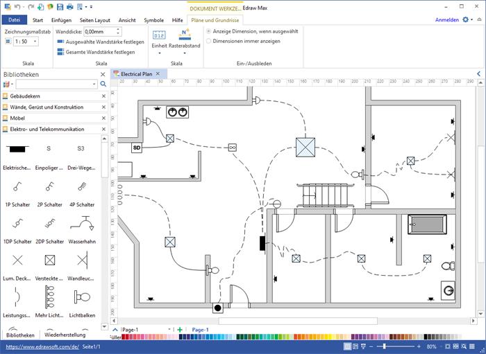 Elektro- und Telekommunikationsplan Software