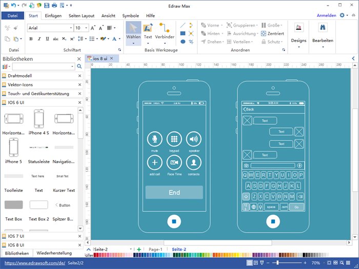 iphone ui wireframe software