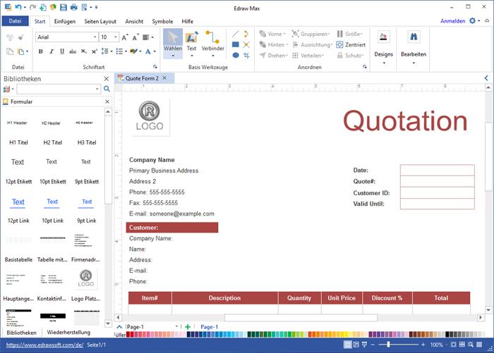 Anfrageformular Software - Anfrageformulare von Vorlagen rasch erstellen