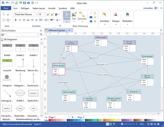 Verhältnisdiagramm Software