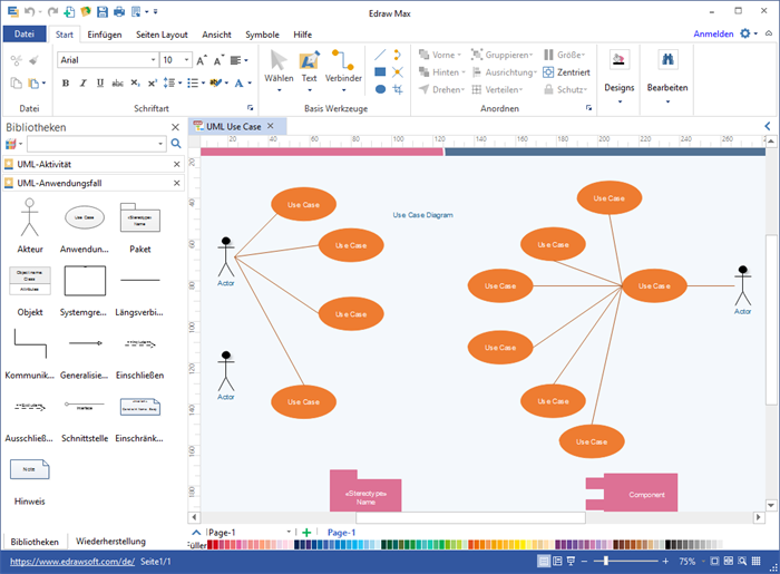 UML Anwendungsfalldiagramm Software
