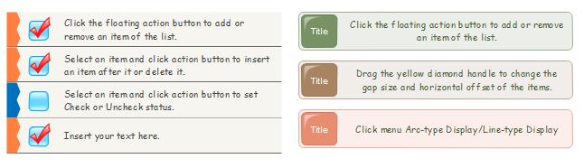 Checkliste Symbole