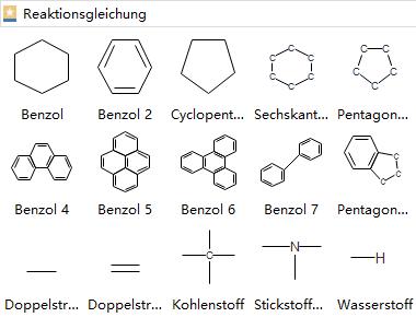 Chemische Struktur Elemente