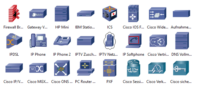 Weitere Cisco Produkt Symbole