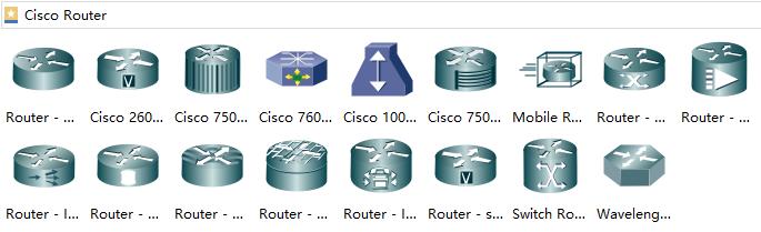 Cisco Netzwerk Symbole Router