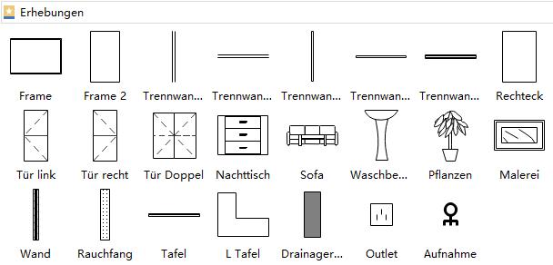 Erhebung Symbole