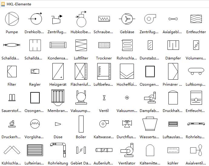 HVAC-Geräte Symbole