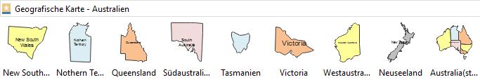 Geographische Karte Symbole - Australien