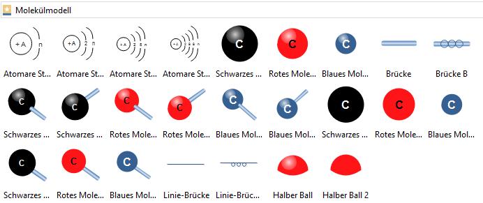 Molekulares Modell Symbole