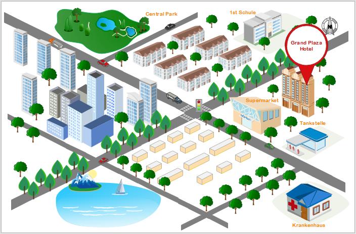 3D Lageplan Beispiel