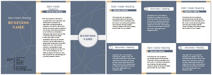 Broschüre Vorlagen - Geschäft