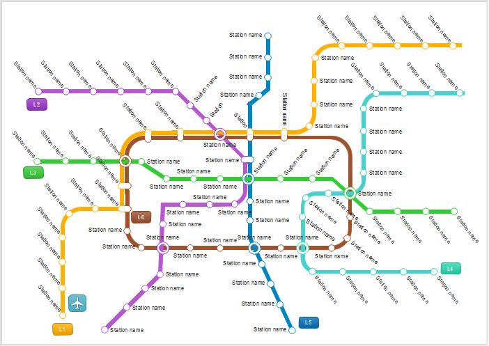 U-Bahnpläne Beispiele